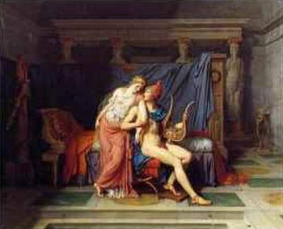 The Love of Paris and Helen by Jacques-Louis David