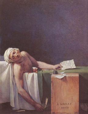 Jacques-Louis David (The murdered Marat) Art Poster Print