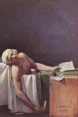 The Murdered Marat by Jacques-Louis David