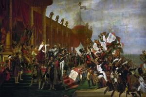 The Oath of the Army after the Distribution of the Eagles on the Champs De Mars by Jacques-Louis David