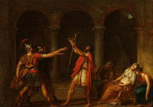 The Oath of the Horatii (Stud), 1784 by Jacques Louis David