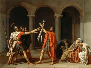 The Oath of the Horatii by Jacques Louis David