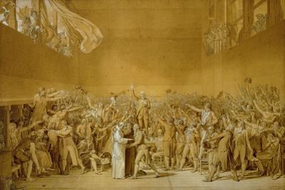 The Oath of the Jeu de Paume,1789 by Jacques Louis David