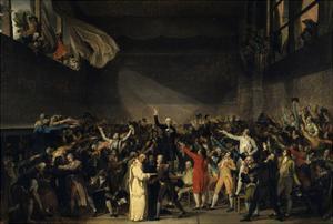 The Tennis Court Oath, June 20, 1789 by Jacques Louis David