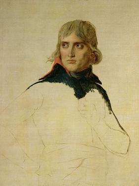 Unfinished Portrait of General Bonaparte (1769-1821) circa 1797-98 by Jacques-Louis David