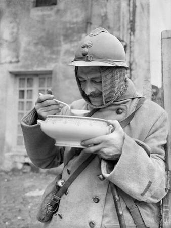 Soldier Eating Soup, 1915