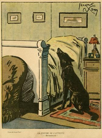 Dog by Owner's Bed 1918