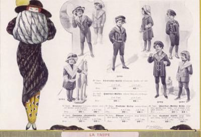 Mole Fur Coat and Muff