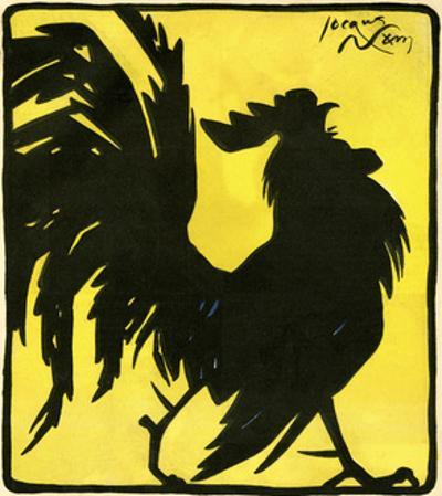 Silhouetted Cock