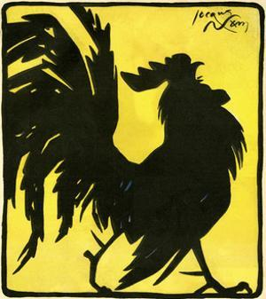 Silhouetted Cock by Jacques Nam