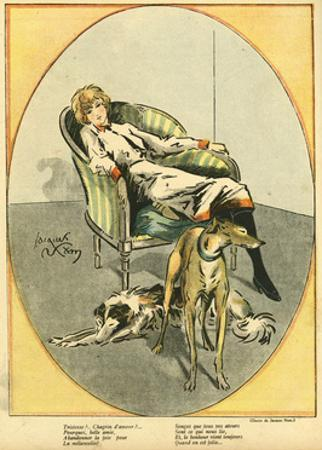 Woman with Dogs 1918