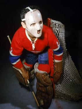 Jacques Plante, Goalie of the Montreal Canadiens Wearing a Mask