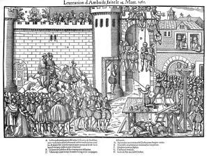Execution of Conspirators at Amboise, French Religious Wars, March 1560 by Jacques Tortorel