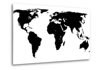 World Map - Black On White by Jacques70
