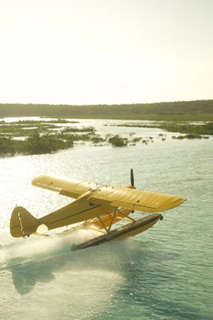 A PA18 Super Cub Floatplane at Conception Island by Jad Davenport