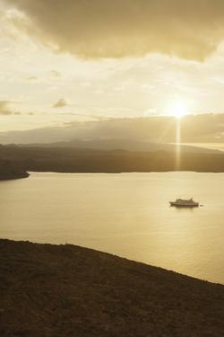 A Passenger Expedition Ship Cruises the Galapagos Islands by Jad Davenport