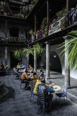 Cafe in Quito, the Capital of Ecuador by Jad Davenport