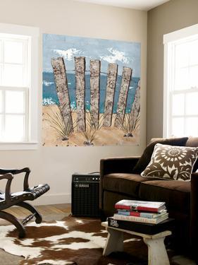 Beach Scene Triptych I by Jade Reynolds