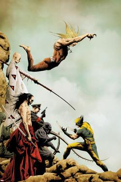 Wolverine No.2 Cover: Wolverine and Sabretooth Fighting by Jae Lee