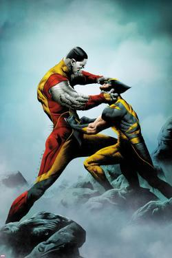 Wolverine No.4 Cover: Wolverine and Colossus Fighting by Jae Lee