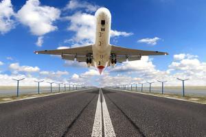 Big Jet Plane Taking off Runway by Jag_cz
