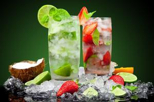 Fruit Cocktail With Dark Background by Jag_cz