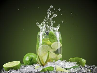 Mojito Cocktail With Splash And Ice by Jag_cz