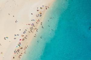 Top View of Beautiful Dreamy Beach by Jag_cz