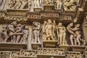 Erotic Sculptures of Khajuraho, Madhya Pradesh, India by Jagdeep Rajput