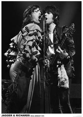 Jagger And Richards- Koln, Germany 1976
