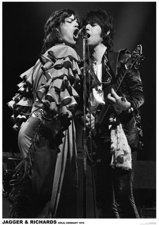 Jagger And Richards- Koln, Germany 1976
