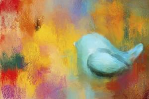 Abstract Bluebird of Happiness by Jai Johnson