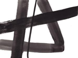Black and White Abstract Painting 5 by Jaime Derringer