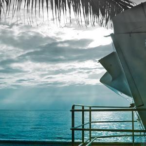 On a Teal Beach II by Jairo Rodriguez