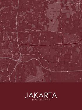 Jakarta, Indonesia Red Map