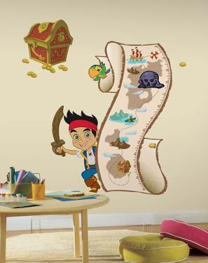 Jake and the Never Land Pirates - Peel and Stick Metric Growth Chart Wall Decal