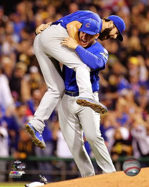 Jake Arrieta & Anthony Rizzo celebrate winning the 2015 National League Wild Card Game