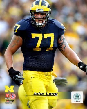 Jake Long University of Michigan Wolverines; 2007 Action