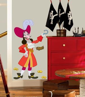 Jake & the Neverland Pirates Captain Hook Peel & Stick Giant Wall Decal