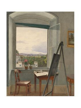 View from the Artist's Studio in Alservorstadt toward Dornbach by Jakob Alt