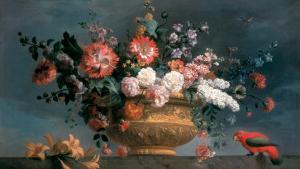 Flower Piece with Parrot by Jakob Bogdani Or Bogdany