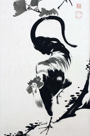 A Rooster Sumi on Paper