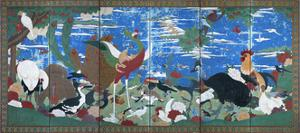 Birds, Animals, and Flowering Plants in Imaginary Scene 2 by Jakuchu Ito
