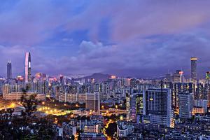 Shenzhen Skyline Panorama by jalvaran