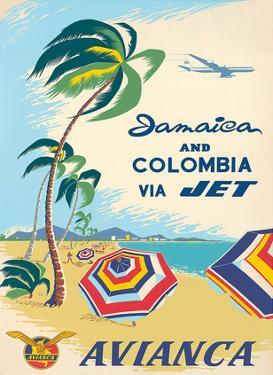 Jamaica & Columbia via Jet Travel c.1960s