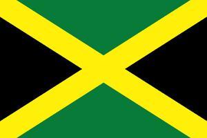 Jamaica National Flag Plastic Sign
