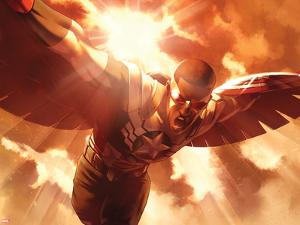 Captain America: Sam Wilson No. 8 Cover Art Featuring: Falcon Cap by Jamal Campbell