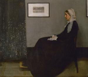 Arrangement in grey and black No. 1, or the painters mother Anna Mathilda McNeill (1804-1881). by James Abbott McNeill Whistler