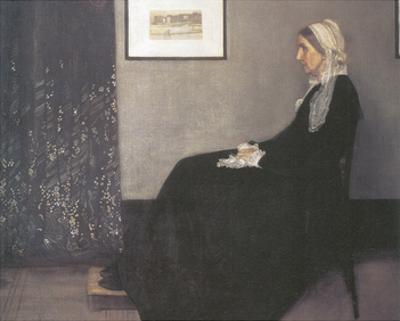 Arrangement In Grey and Black, No.1: Portrait Of The Artist's Mother by James Abbott McNeill Whistler