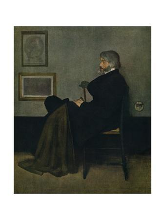 'Arrangement in Grey and Black, No.2: Thomas Carlyle', c1872